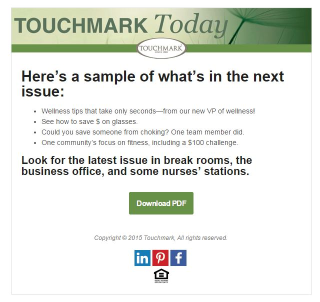Touchmark Today screenshot
